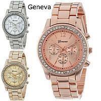 Кварцевые женские часы Geneva swarovski