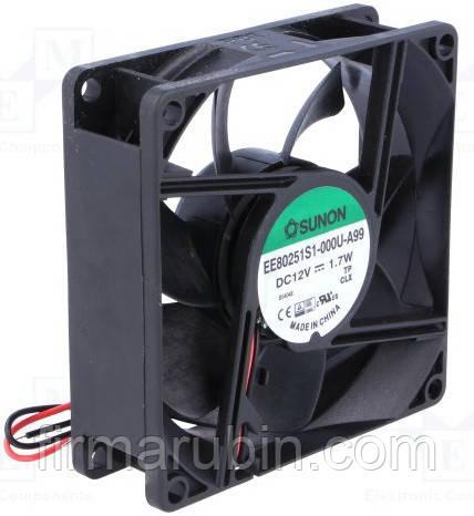 EE80251S1-A99, Вентилятор SUNON, 80x80x25 мм, 12 VDC
