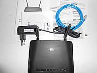 Wi-Fi  роутер беспроводной, до 300Мб/с, 4-х портовый D-Link DIR-615