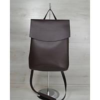 Молодежный сумка-рюкзак шоколадного цвета