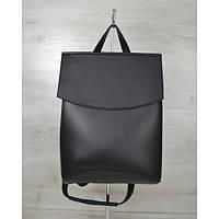 Молодежный сумка-рюкзак черного цвета