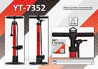 Насос ручной с манометром 7.0bar,  YATO YT-7352