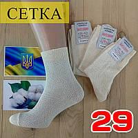 Мужские носки летние с сеткой Житомир 100% хлопок 29 размер бежевые НМЛ-06383