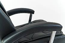 Кресло Телави Хром механизм Anyfix кожзаменитель Черный (Richman ТМ), фото 3