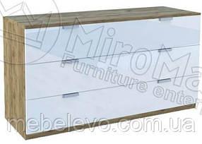 Асти Комод 3Ш 801х1006х462мм дуб крафт + белый глянец   Миро-Марк