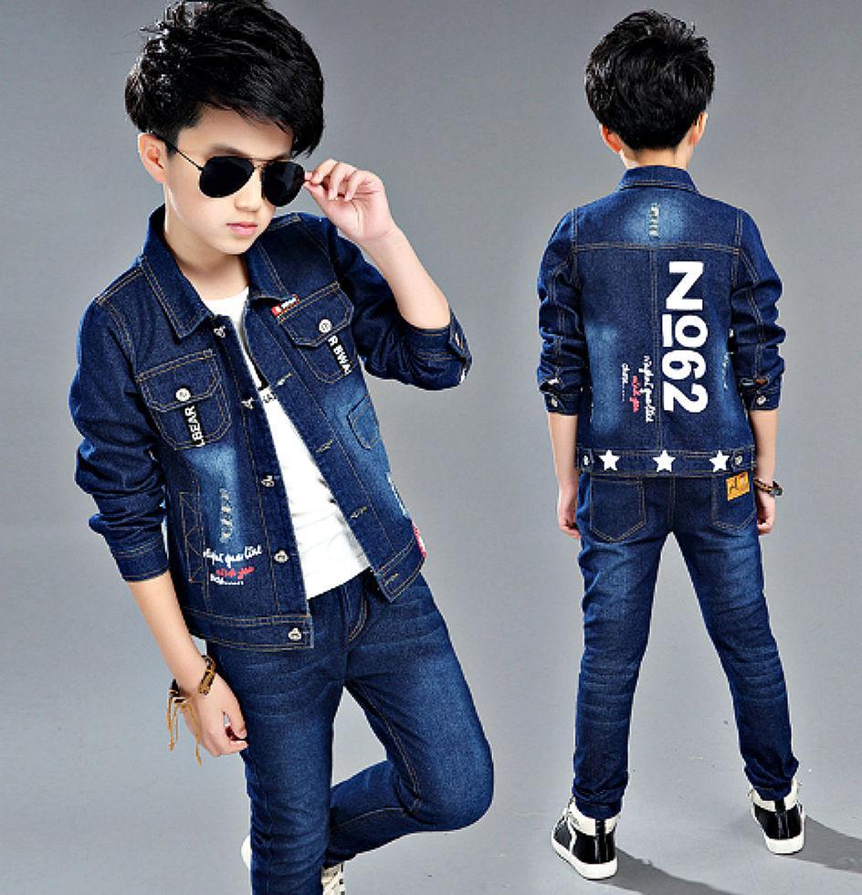 Детские джинсовые спортивные костюмы-(Ковбой) из 3 единиц в стиле