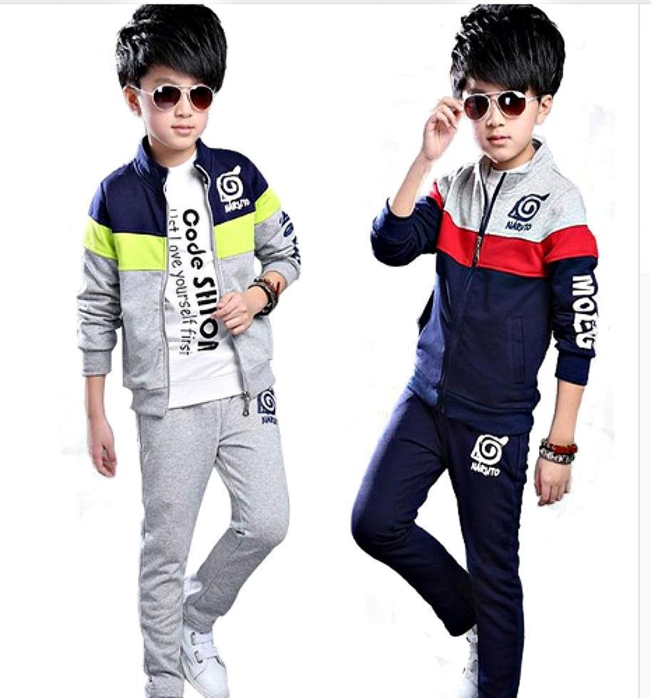 Модные детские спортивные костюмы для мальчиков на молнии в стиле