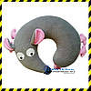 Дизайнерская дорожная Подушка-подголовник Silenta Мышка.