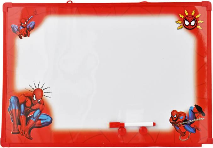 """Детская магнитная доска маркерная-меловая """"Спайдермен"""", фото 2"""