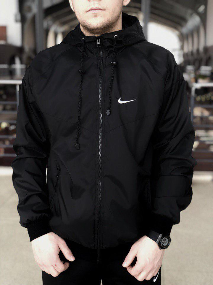 Ветровка мужская весенняя осенняя куртка черная 951ac1887d2a7