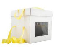 Коробка для торта, 350Х350Х350 мм, белая, фото 1