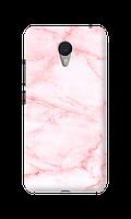 Чехол для Meizu M3 / M3s Розовый мрамор с толстыми прожилками