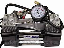 Авто компрессор двухпоршневой для подкачки шин MIOL 81-118