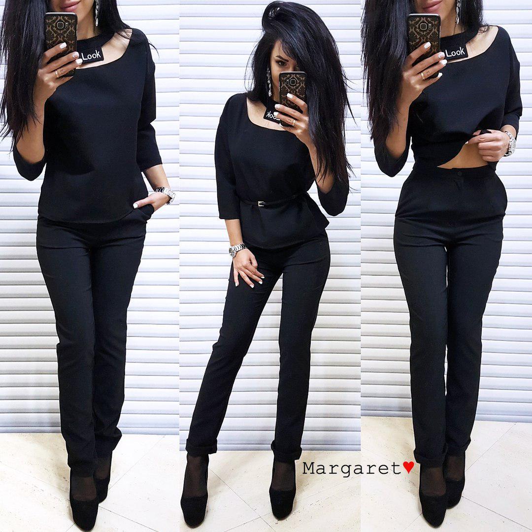Костюм брюки и блузка LOOK Турция