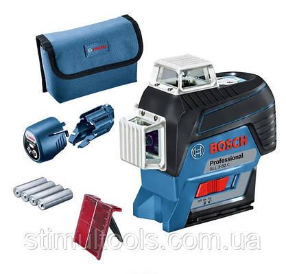 Нивелир лазерный Bosch GLL 3-80 C