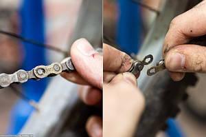 Как снять цепь с велосипеда