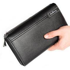 ✓Стильный мужской кошелек Baellerry 1001 Black для денег визиток кредитных карточек удобный и не маркий