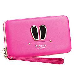 ✓Стильный женский кошелек Baellerry 1319 Розовый для денег визиток кредитных карточек удобный и не маркий