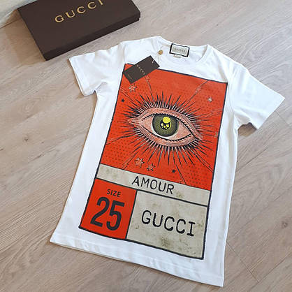 Футболка Gucci женская белая, фото 2