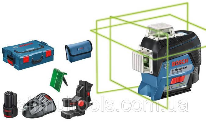 Нивелир лазерный Bosch GLL 3-80 CG + BM 1 + L-BOXX