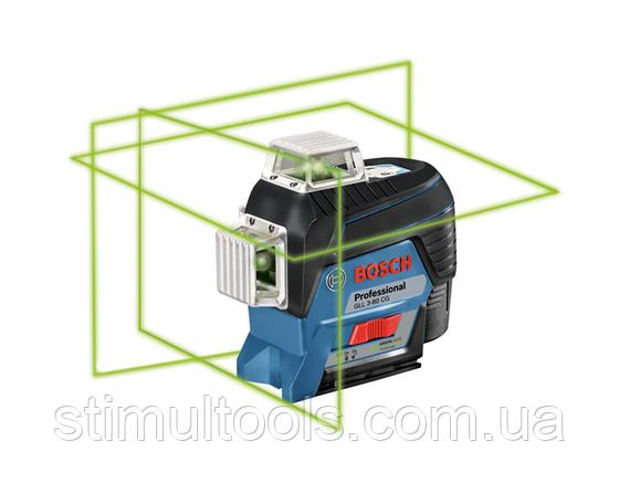 Нивелир лазерный Bosch GLL 3-80 CG без упаковки