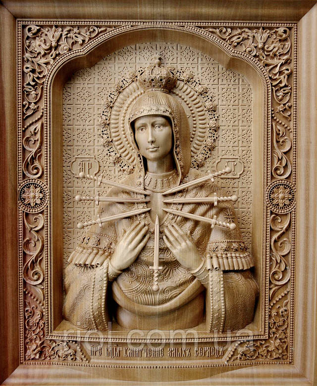 икона из дерева казанской божьей матери