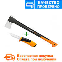 Топор-колун fiskars х21L + универсальный нож (1025436), фото 1