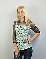 Блуза со вставками сетки 032