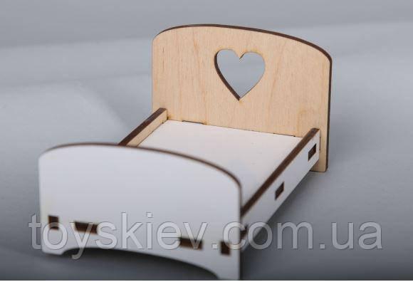 Кукольная мебель BigEcoToys Кровать маленькая 17617