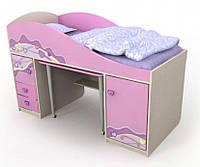 Кровать-чердак Pn-40-1 Pink