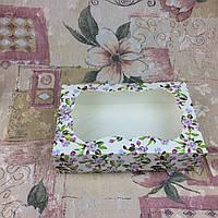 Коробка под зефир / *h=6* / 230х150х60 мм / печать-Весна / окно-обычн / лк / цв, фото 1