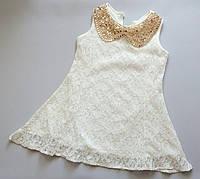 Детское нарядное платье кружево + золотой воротничек 4-6 лет 4-6 лет 5 лет