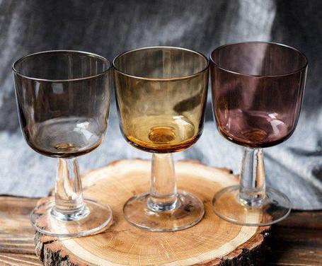 Цветной бокал для вина Милорд розовое стекло, 325 мл, фото 2