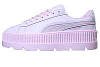 c47a601ae415 Женские кроссовки Puma x Fenty Cleated Creeper Leather Pink (Реплика ААА+)