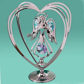 "Фигурка ""Ангел в сердце""Crystocraft с кристаллами Swarovski, 0014-004 SL"