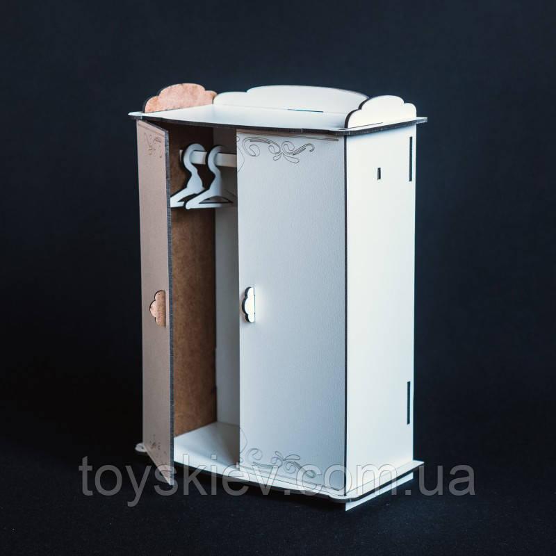 Кукольная мебель BigEcoToys Шкаф с вешалками 17614