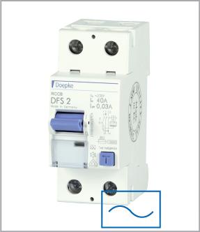 УЗО (дифреле) Doepke DFS2 025-2/0,10-AC, тип AC, ном.ток 25А, dp09125602