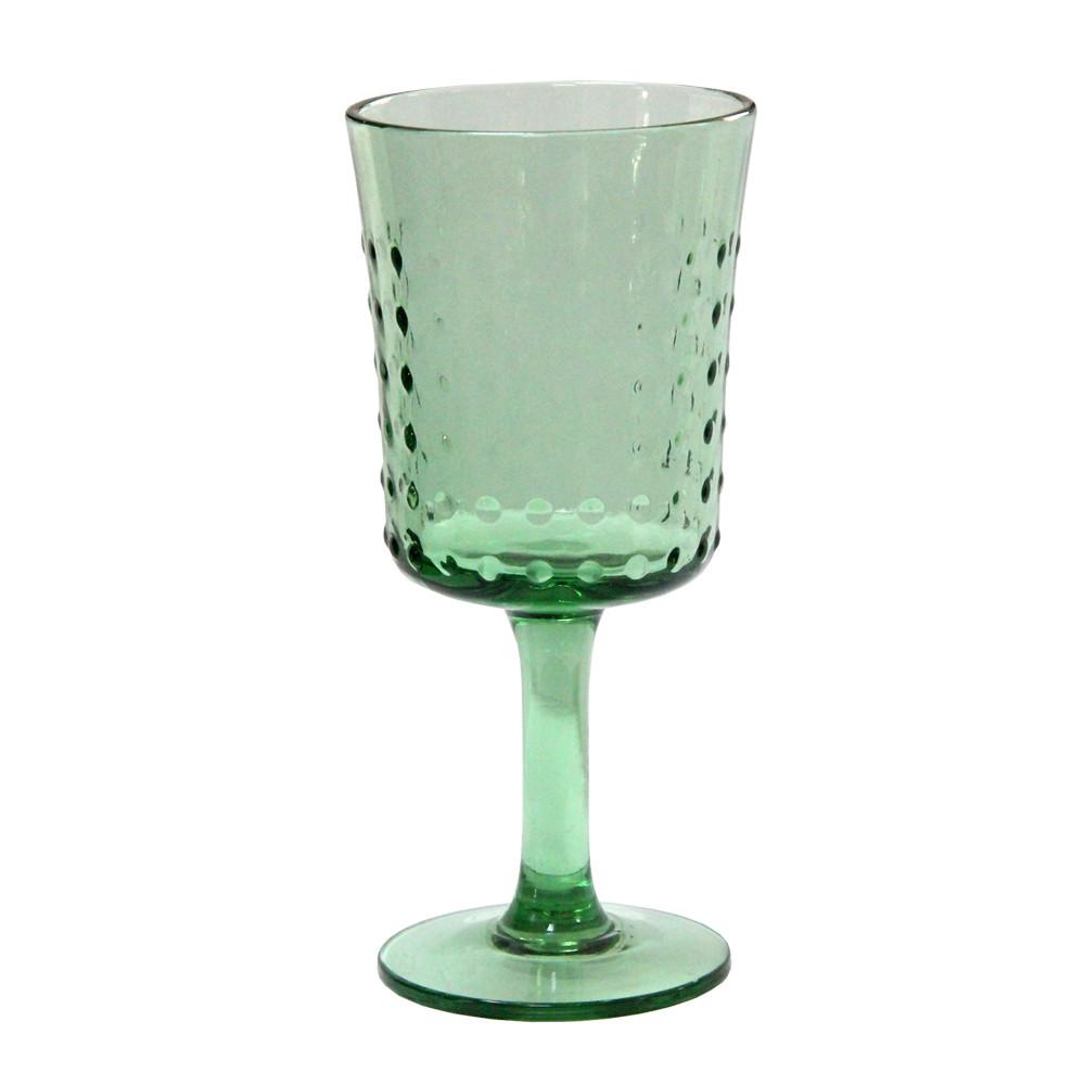 Граненый бокал Пимпл из цветного стекла, 350 мл