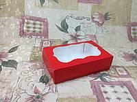 Коробка под зефир / *h=6* / 230х150х60 мм / печать-Красн / окно-обычн, фото 1