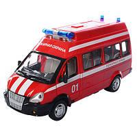 Коллекционная инерционная модель - Пожарная Охрана Газель, 9707-A
