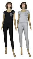 Костюм женский летний 03229 Lora Lux, футболка и брюки, фуликра с люрексом, р.р.42-56, фото 1