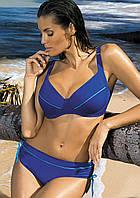 Раздельный купальник для большой груди (D, E, F, G в расцветках) синий (regatta), 80 F/M
