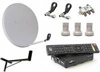 Комплект спутникового ТВ с HD тюнером (на 3 головки)