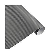 Карбонова плівка 3D рулон 40х150 см СІРА