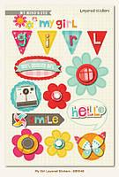 Объемные наклейки My Mind's Eye - My Girl 3D Stickers, GB1046