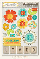 Чипборды My Mind's Eye - Collectable - Notable - Love This Chipboard Stickers, CTB108
