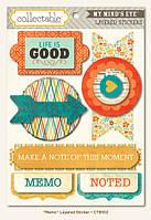 Объемные наклейки My Mind's Eye - Collectable - Notable - Memo 3D Stickers, CTB102
