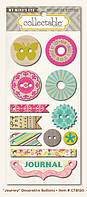 Пуговицы My Mind's Eye - Collectable - Memorable - Journey Decorative Buttons, CTB150