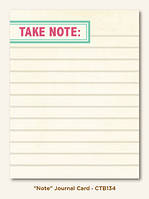 Карточка для журналинга My Mind's Eye - Collectable - Memorable - Note Journal Card, CTB134