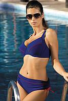 Раздельный купальник для большой груди (D, E, F, G в расцветках) т.-синий (atene), 90 F/XL